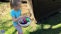 30 SURPRISE EGGS! Easter Egg Hunt in the Pirate Ship Playground Park for Kids W/ Fun Fory
