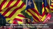Des centaines de milliers de Catalans réclament l'indépendance