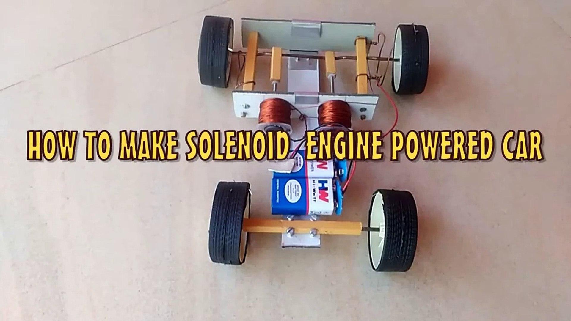 Solenoid Engine Car | Diy Tutorial | ONE MILLION VIEWS!!!