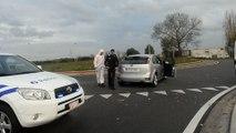 Trois individus arrêtés après une course poursuite avec la police à Elouges.Vidéo Eric GHISLAIN