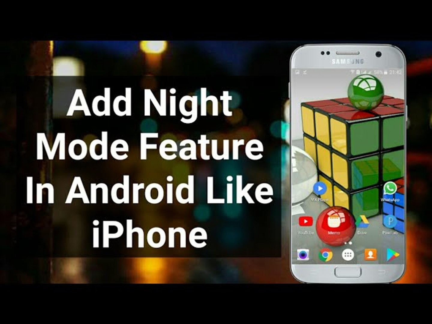 How To Add Night Mode Feature In Android Hindi-Urdu - How To Enable Night Mode In Android