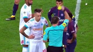 Red Card Neymar vs Marseille - Marseille vs PSG 2-1   22.10.2017