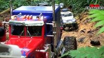 9 Trucks RC Mudding Trail at Chestnut Ave Defender D90 Axial Wraith 6x6 King Hauler Man Honcho