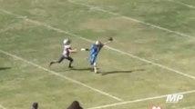 Pee Wee receiver snags OBJ-esque catch