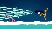KWEBBELKOP-EXTREME ICE GUN STICK FIGHT! (Stick Fight #5)