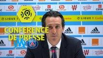 Conférence de presse Olympique de Marseille - Paris Saint-Germain (2-2) : Rudi GARCIA (OM) - Unai EMERY (PARIS) - 2017/18