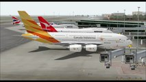 AIRBUS A380 800 GARUDA INDONESIA AIRWAYS TAKE OFF FROM CHANGI AIRPORT SINGAPORE INTL AIRPORT FS9 HD