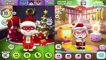 My Talking Tom vs My Talking Angela Song Happy Christmas