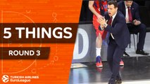 Turkish Airlines EuroLeague, Regular Season, Round 3: 5 Things to Know