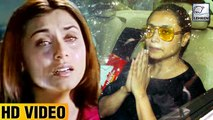 Rani Mukerji CRYING At Father Ram Mukherjee's Last Rites