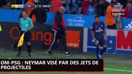 OM-PSG : Neymar visé par des projectiles, il pousse un coup de gueule (Vidéo)