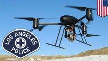 Drone Polisi : LAPD mengizinkan pesawat drone polisi dalam program percontohan tahunan - TomoNews