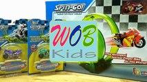 Kid Toys ! Flying Car Moto Spin-Go ! Xe Moto Mini Nhào Lộn Siêu Tốc ! WOB Kids !!