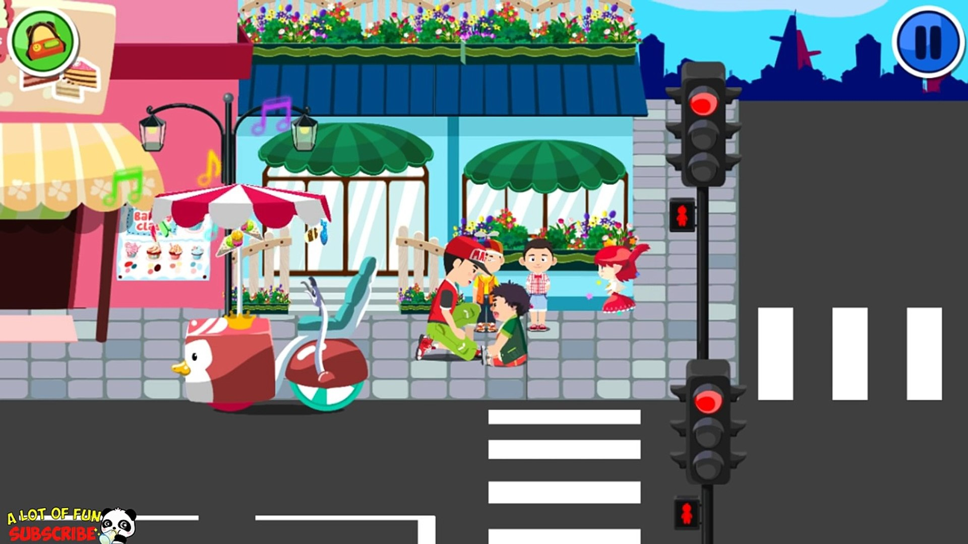 Kids Learn about Safety on the Road & Streets: Safety Tips for kids - Education game