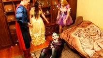 Evil Princess Rapunzel LOVE Superman! w/ Supergirl with scissors - Superhero IRL