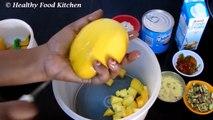 Mango Ice Cream Recipe - Homemade Ice Cream Recipe - Easy Ice Cream - Eggless Ice Cream Recipe