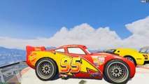 Lightning McQueen vs VERTICAL RAMP! (GTA 5 Mods Funny Moments) - Disney Cars in GTA 5