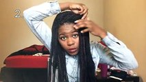 18 Basic Everyday Styles for Senegalese Twists/Box Braids, etc