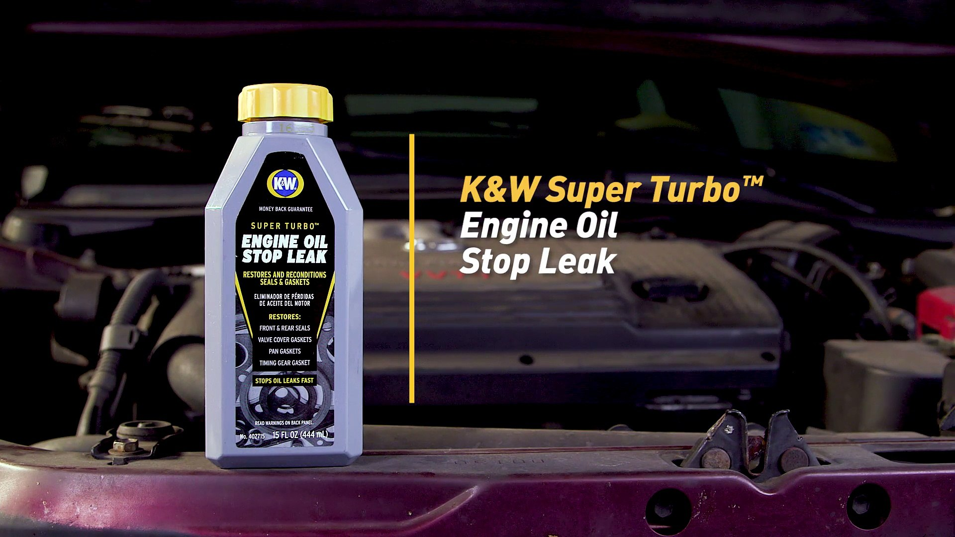 How to Fix an Oil Leak with K&W® SUPER TURBO™ Engine Oil Stop Leak