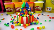 New PLAY DOH CAKE MOUNTAIN BIRTHDAY Play Dough Cakes Videos 2016