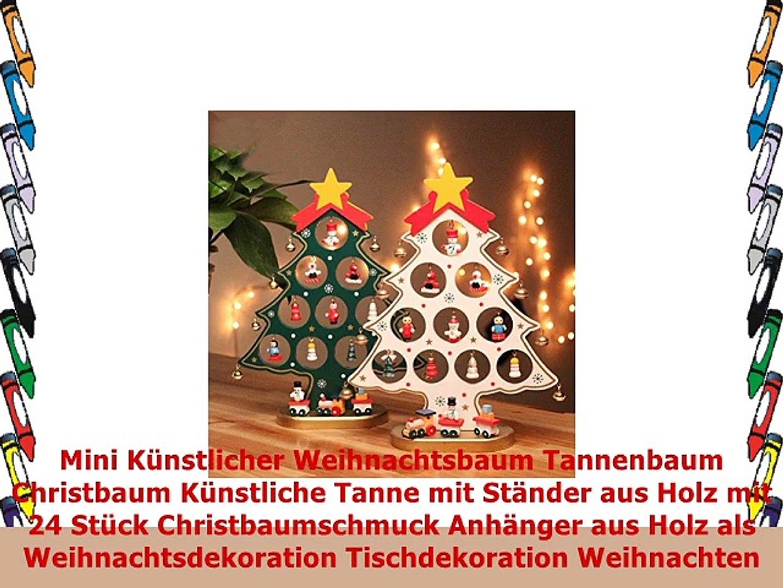 von Weihnachtsbaum Verzierungen aus Holz Weihnachten hängen Der Weihnachtsmann
