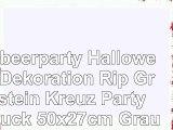 erdbeerparty  Halloween Dekoration Rip Grabstein Kreuz Party 1 Stück 50x27cm Grau