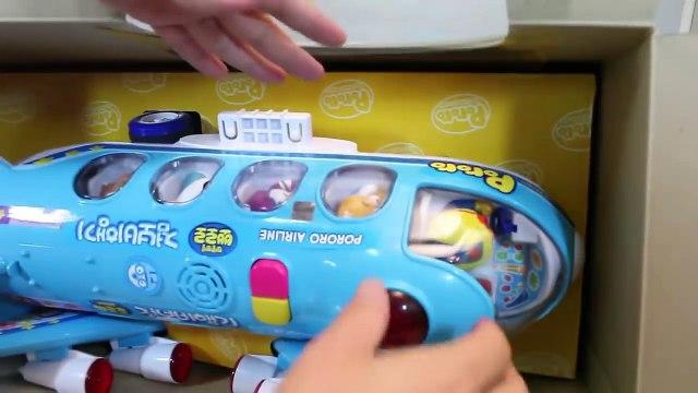 뽀로로 점보 비행기 와 친구들 과 타요 폴리 장난감 Pororo Plane Toys Jumbo Jet Flying Airplane Toy for Kids Пороро Игрушки