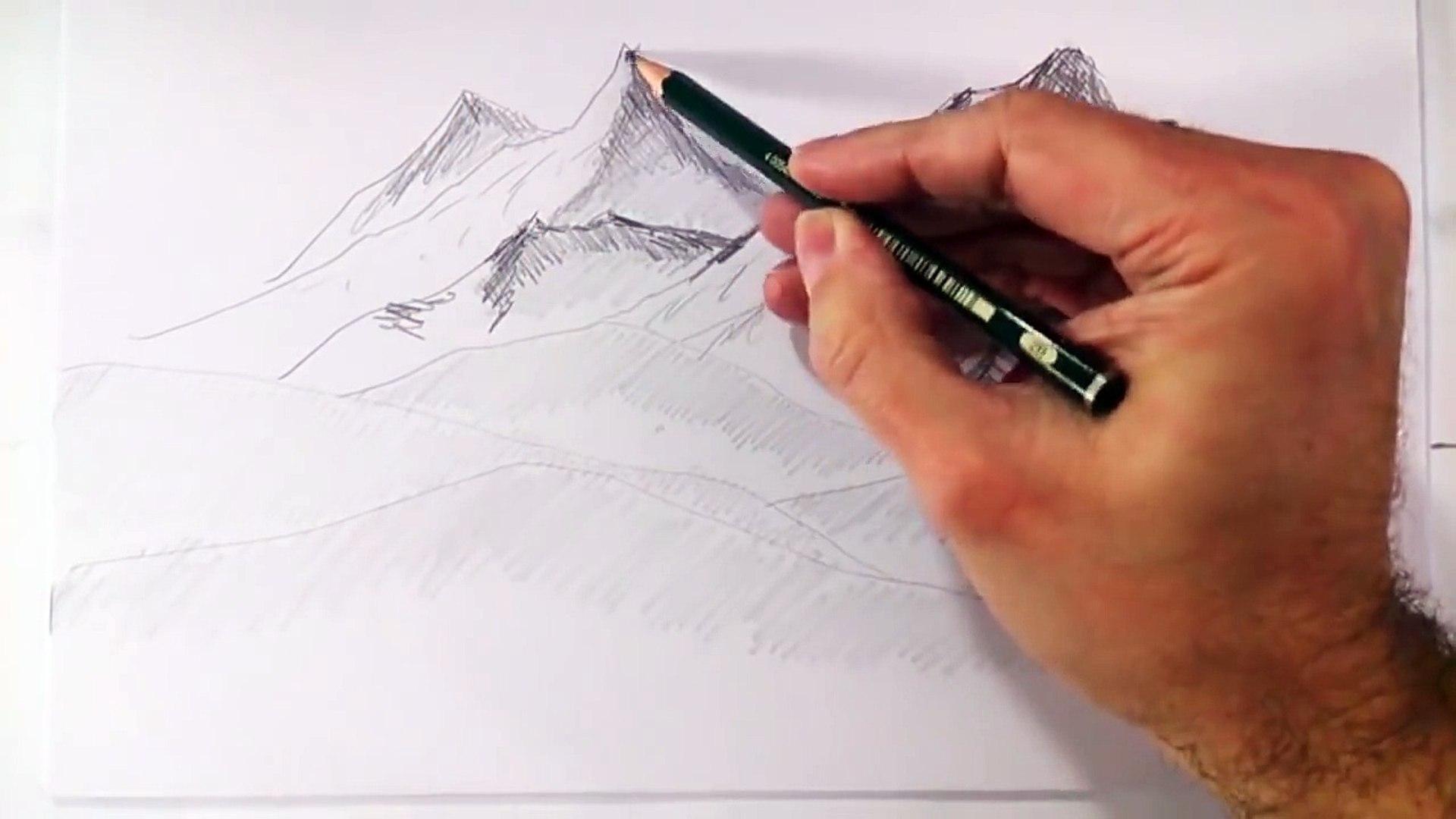 Como Dibujar Montañas Realistas A Lapiz Faciles Y Paso A Paso видео Dailymotion