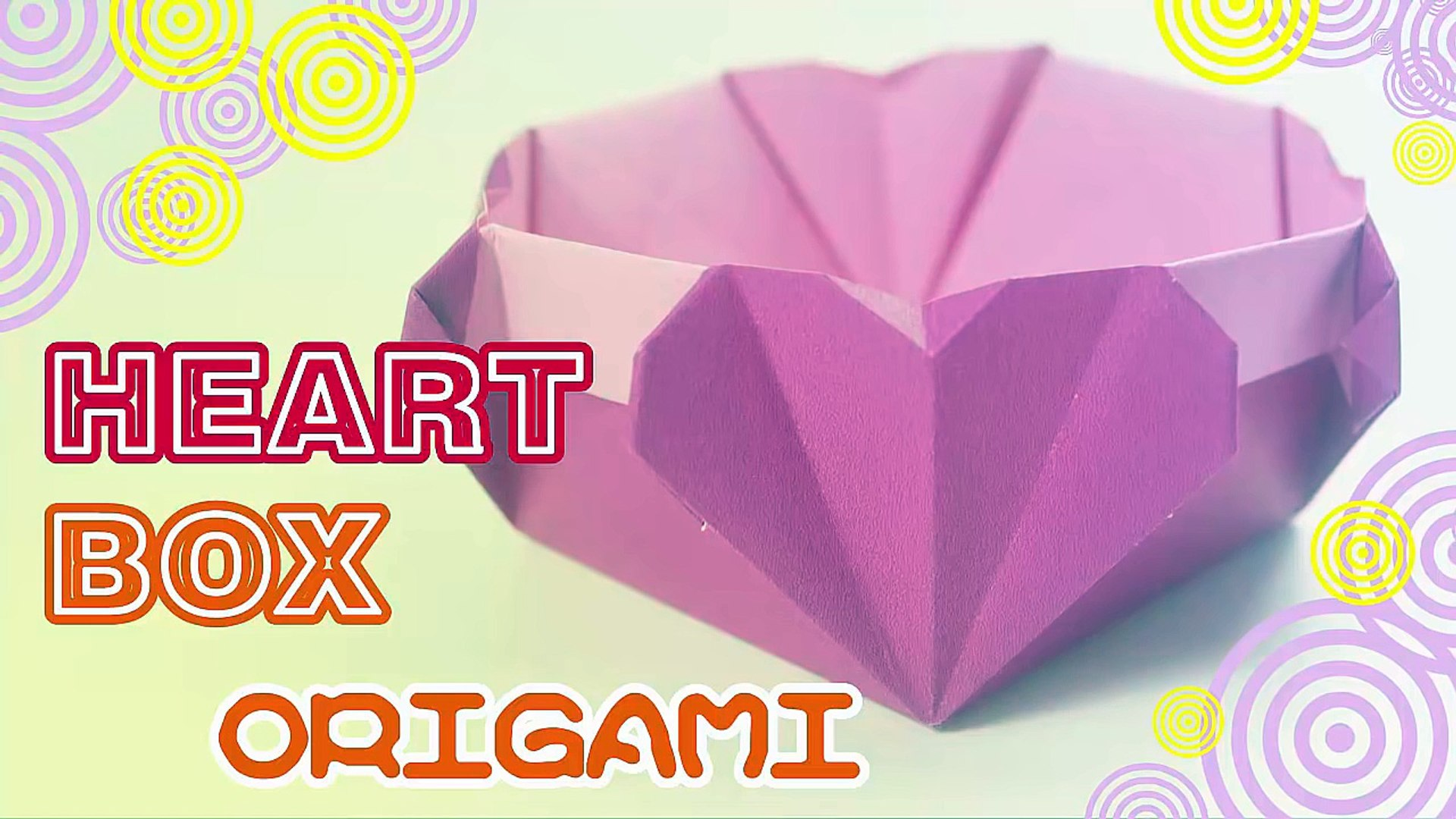 Paper Ring and paper Box for gift. Origami tutorial - YouTube   1080x1920