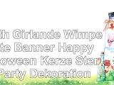 YNuth Girlande Wimpelkette Banner Happy Halloween Kerze Stern Party Dekoration