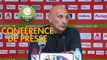 Conférence de presse AC Ajaccio - Gazélec FC Ajaccio (2-0) : Olivier PANTALONI (ACA) - Albert CARTIER (GFCA) - 2017/2018