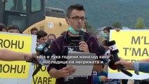Протест на жителите на Тетово по саботниот пожар на депонијата