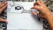 Como dibujar a nightmare foxy de five nights at freddys | how to draw foxy nightmare