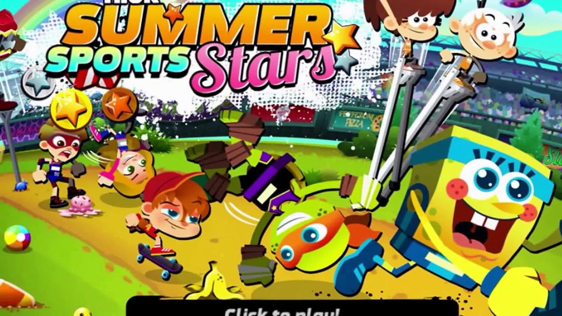 Nickelodeon Summer Sport Stars - Full Video Cartoon for Kids