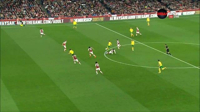 0-1 Josh Murphy Goal England  Football League Cup  Round 4 - 24.10.2017 Arsenal 0-1 Norwich City