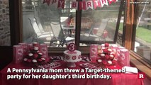 Mom throws her 3-year-old a Target themed Birthday party | Rare News