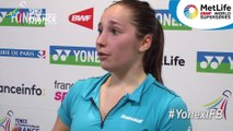Yonex IFB : Interview de Delphine Lansac - 2er tour qualifications