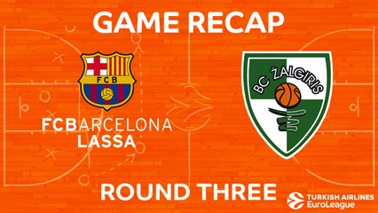EuroLeague 2017-18 Highlights Regular Season Round 3 video: Barcelona 75-81 Zalgiris