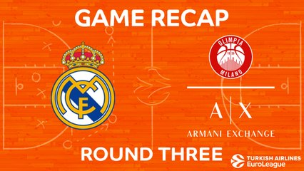 EuroLeague 2017-18 Highlights Regular Season Round 3 video: Real Madrid 100-90 AX Milan
