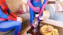 Superheroes Dancing vs Bad Baby Twins, Joker, Fat Spiderman, Bad Dad   Real Life Superhero Mashup!