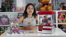 Máquina La garra Challenge Capturando Shopkins I Reto con la Garra Máquina de Feria I Abrelo Toys