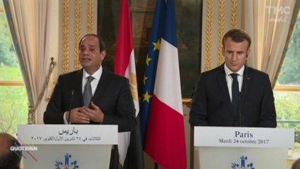 [Zap Actu] Le président égyptien Sissi entame une visite en France et rencontre Macron (25/10/2017)