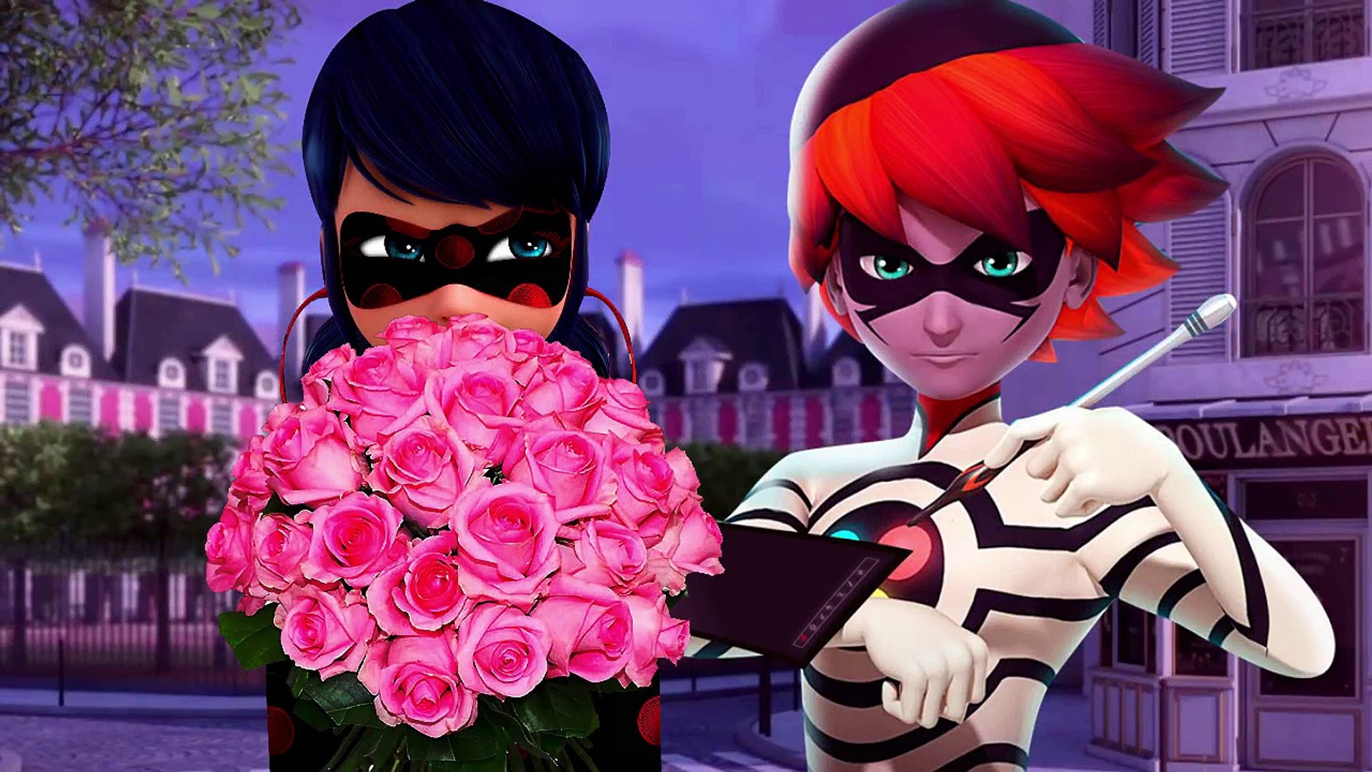 Miraculous Ladybug Miss Fortune kissing | Cat is jealous | New Episode 2017