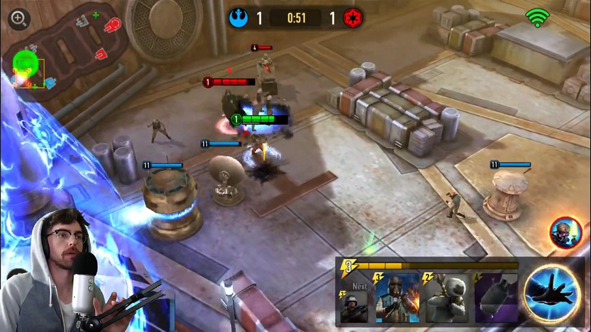 Star Wars: Force Arena GAMEPLAY | LUKE SKYWALKER | BEST DECK - I love this Mobile Game..