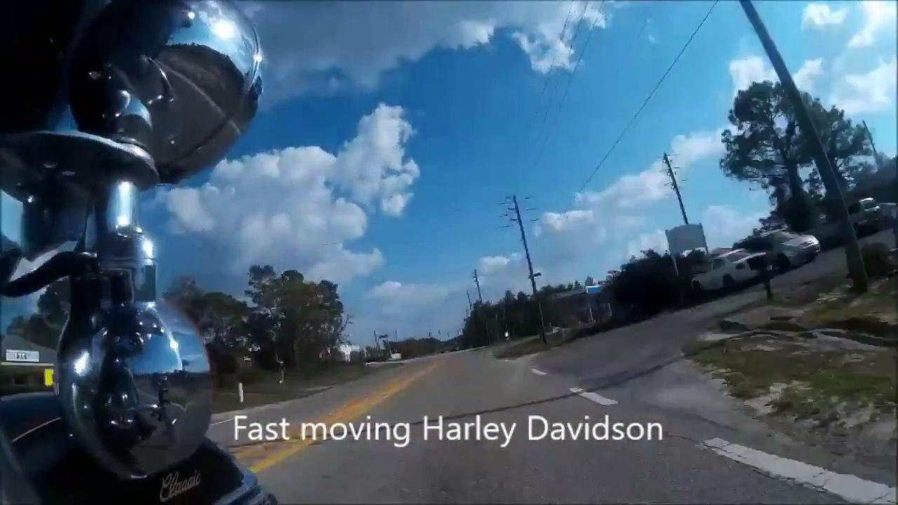 Fast Moving Harley Davidson