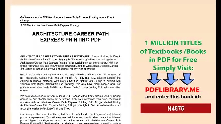 Architecture Career Path Express Printing