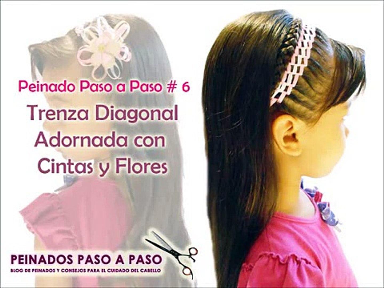Peinados Faciles Para Nina Trenza Adornada Con Cintas Y Flores Hairstyles For Girls
