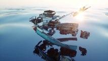 Découpage en 3D impressionnant d'un bateau !! Superbes effets spéciaux !