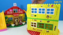 Peppa Pig Blocks Mega House LEGO Creations Sets With Masha And The Bear Legos Toys For Kids #3