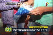 Censo 2017: empadronadores recibieron shampoo y vales de un sol como incentivos